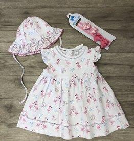 Kissy Kissy Flamingo Dress Set 0-3M Kissy Kissy