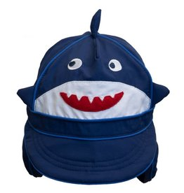 Calikids Shark Flap Hat Navy