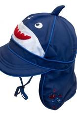 Calikids Shark Flap Hat Navy