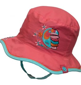 Calikids Parrot/Flamingo Reversible Sunhat