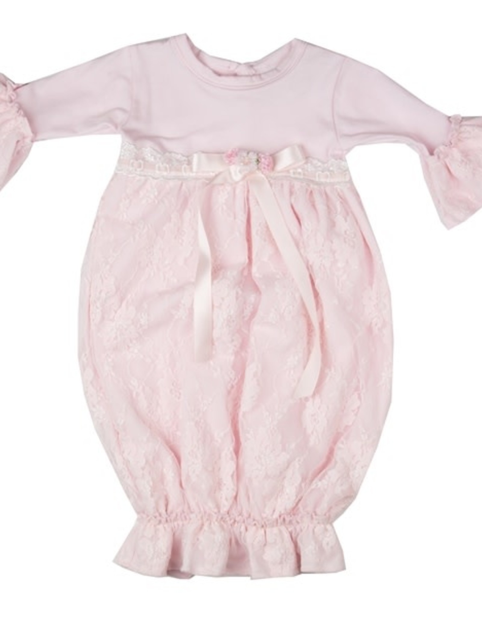 Haute Baby Sweet Rose Gown 0-3 mos