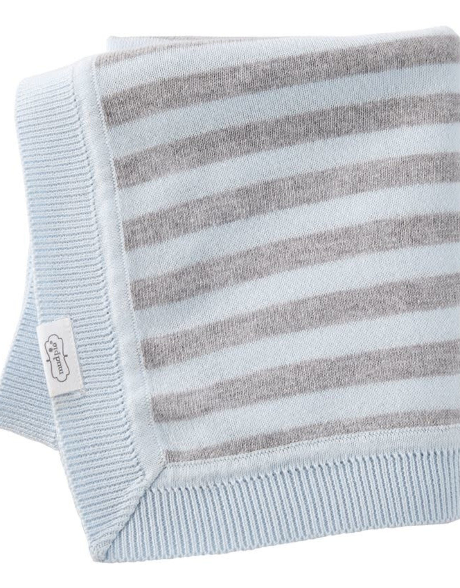 Blue & Gray Knit Blanket