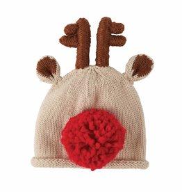 Red Reindeer Knit Hat 0-6mos