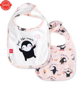 Just Like Mom Reversible Bib