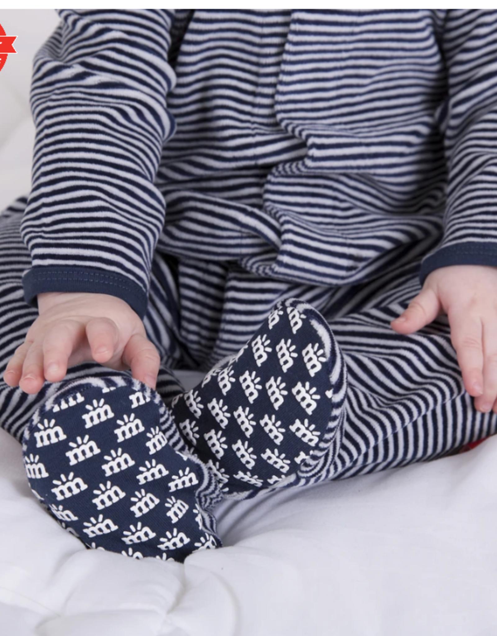 Magnificent Baby Blue Stripe Velour Footie