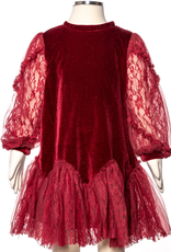 Burgundy Lace Tunic Tod