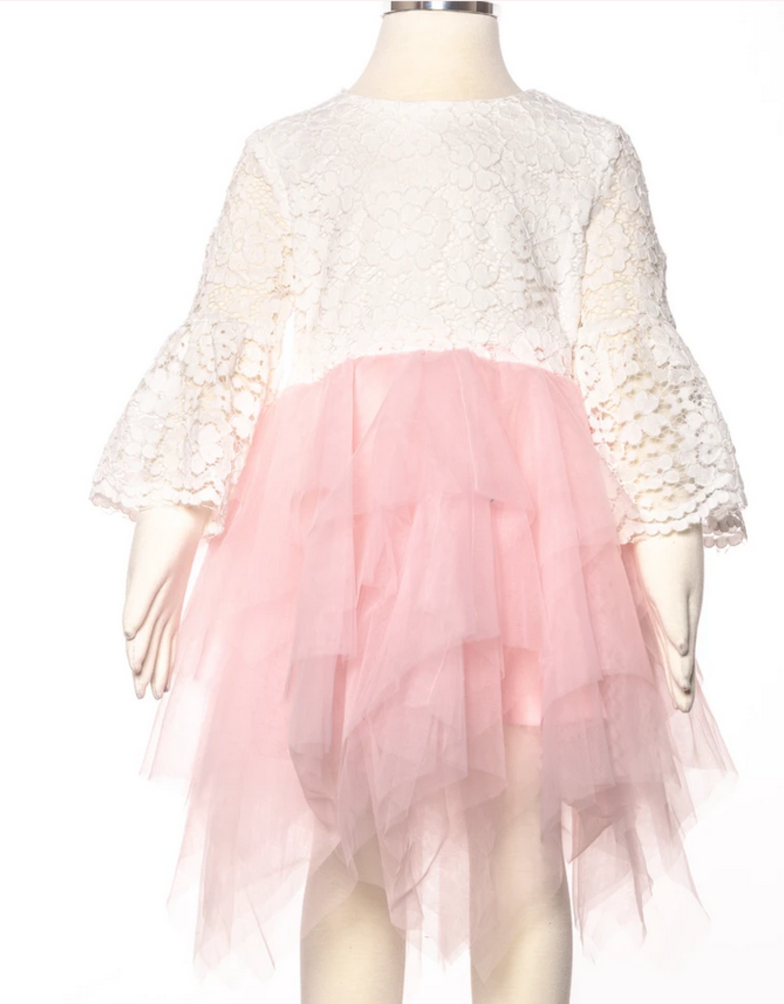 Pink Lacey Tulle Dress