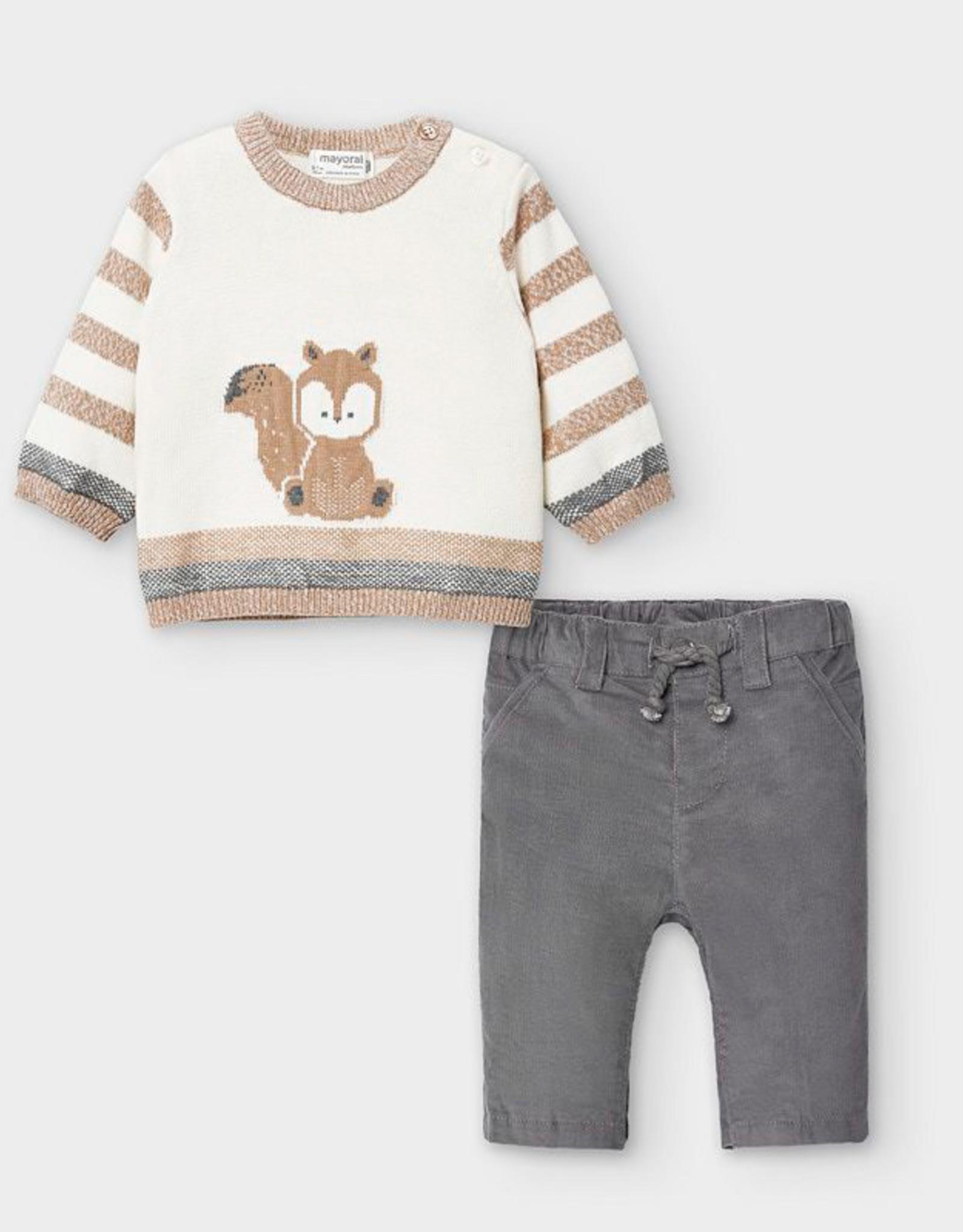 Graphite trousers w/sweater