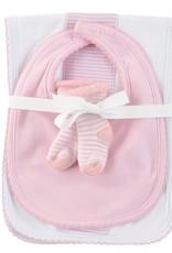 Pink Newborn Burp Cloth Set