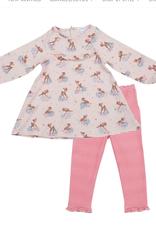 Woodland Deer Ruffle Dress/legg set