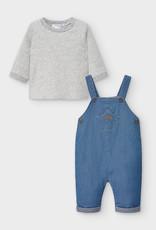 Blue Denim Romper Set