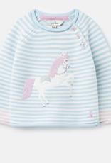 Joules Blue Unicorn Sweater