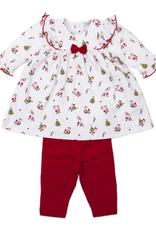 Kissy Kissy Santa Mix Print Dress Set