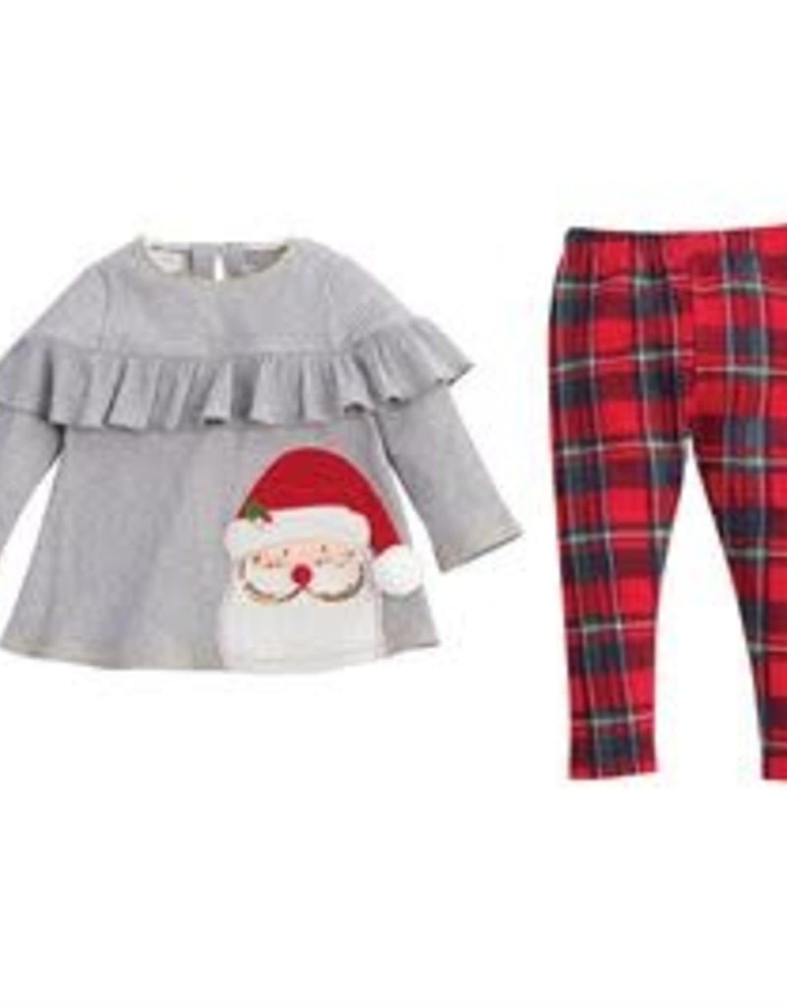 Tartan Santa Tunic & Legging Set 5T