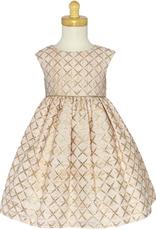 Swea Pea & Lilli Blush Jacquard w/metallic Dress