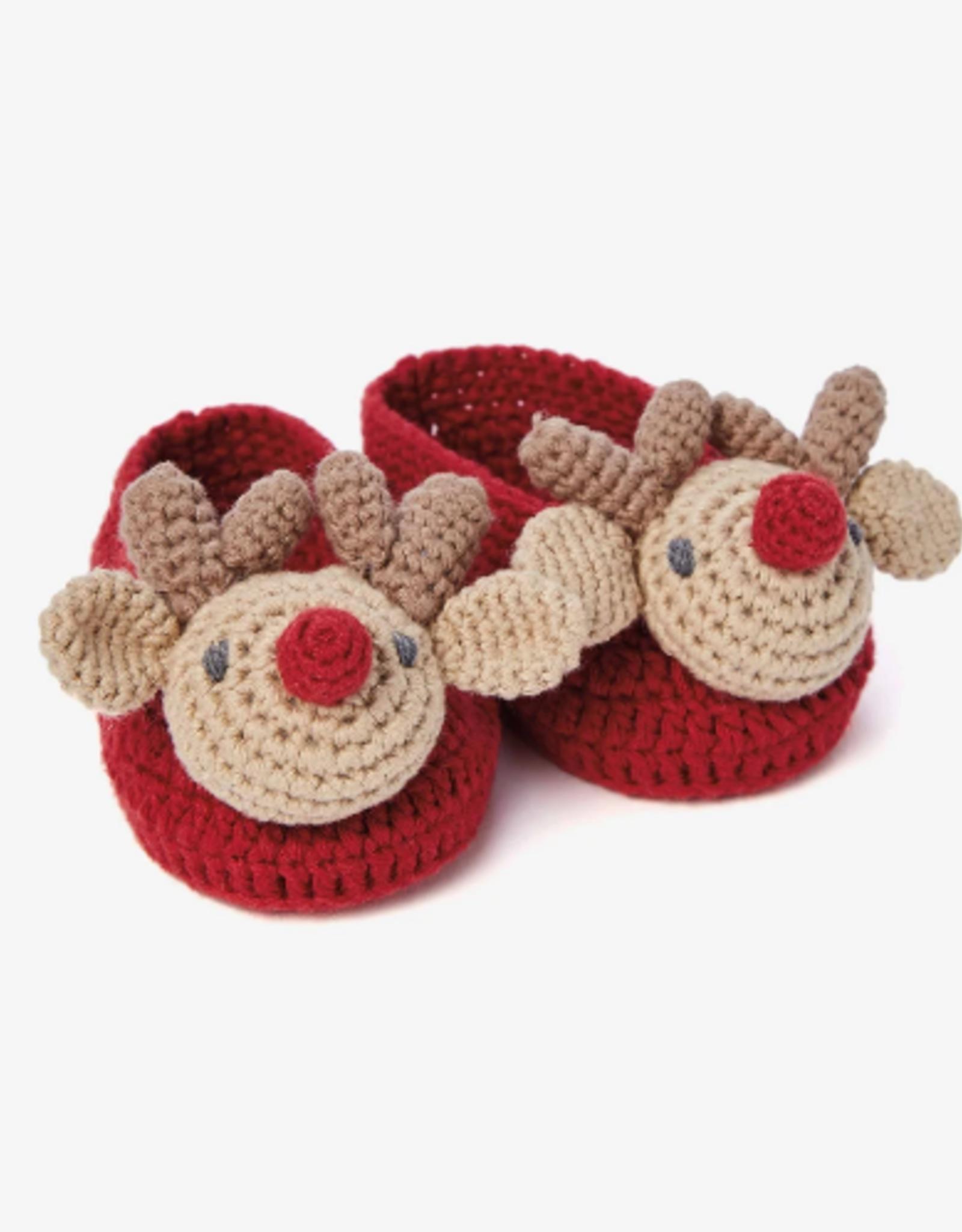 Reindeer Crocheted Booties