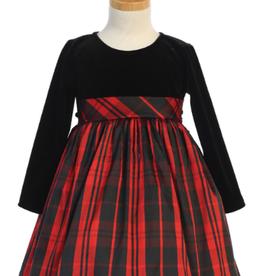 Swea Pea & Lilli L/S Red Plaid Dress