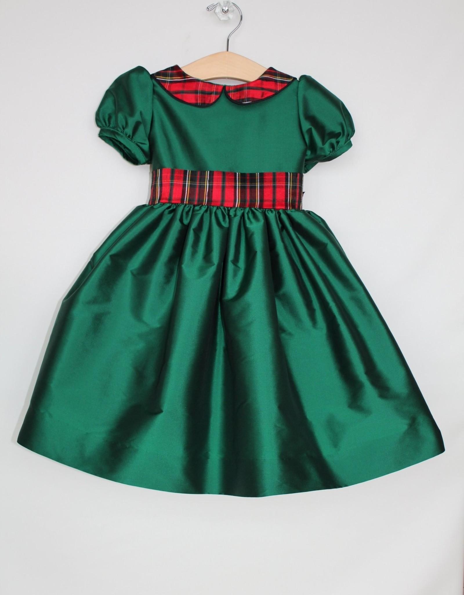 Susanne Lively Designs, LLC Green Dress w/plaid collar