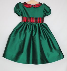 Susanne Lively Designs, LLC Green Dress w/plaid collar