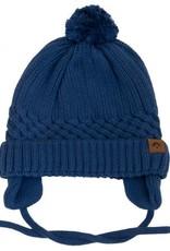 Calikids Denim Blue knit hat w tie