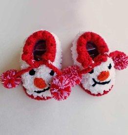 Huggalugs Snowman Booties NB