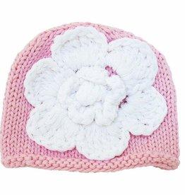 Huggalugs Flower Knit Hat NB