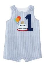 Birthday Seersuck Shortall 12-18mos