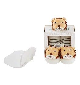 Lion Wrist Rattle Socks