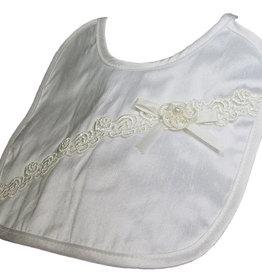 Silk Bib w/rosette