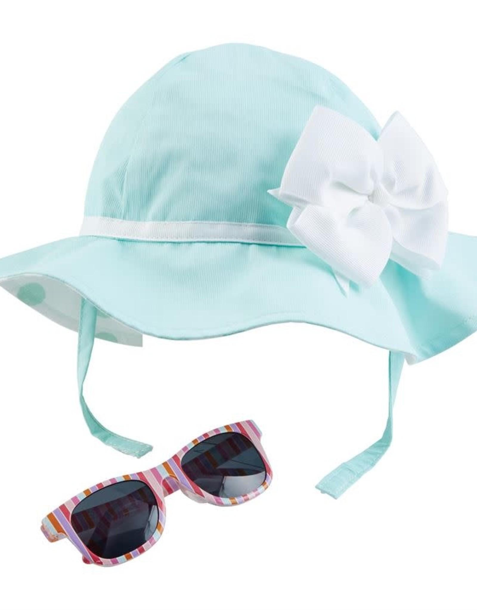 Blue Bow Hat 6-18m