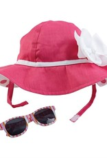 Pink Bow Hat 6-18m