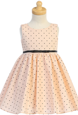 Blush Pink Polka Dot Dress Toddler