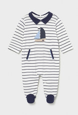 Striped Sailboat Footie