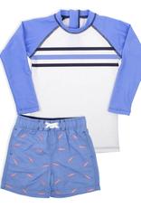 Shade Critters Blue Shark Swimshort w/rashguard