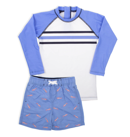 Shade Critters Blue Shark Swimshort w/rashguard