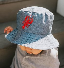 Huggalugs Lobster Chambray Bucket Hat