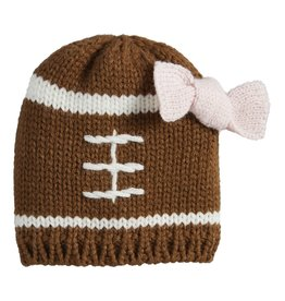 Football Knit Hat w/bow