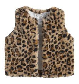 Brown Leopard Fur Vest