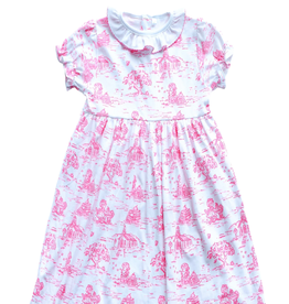 Maddie and Connor School Days Toile Dress-Toddler