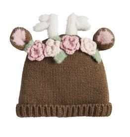 Floral Deer Hat 6-18m