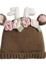 Floral Deer Hat 2t-5t