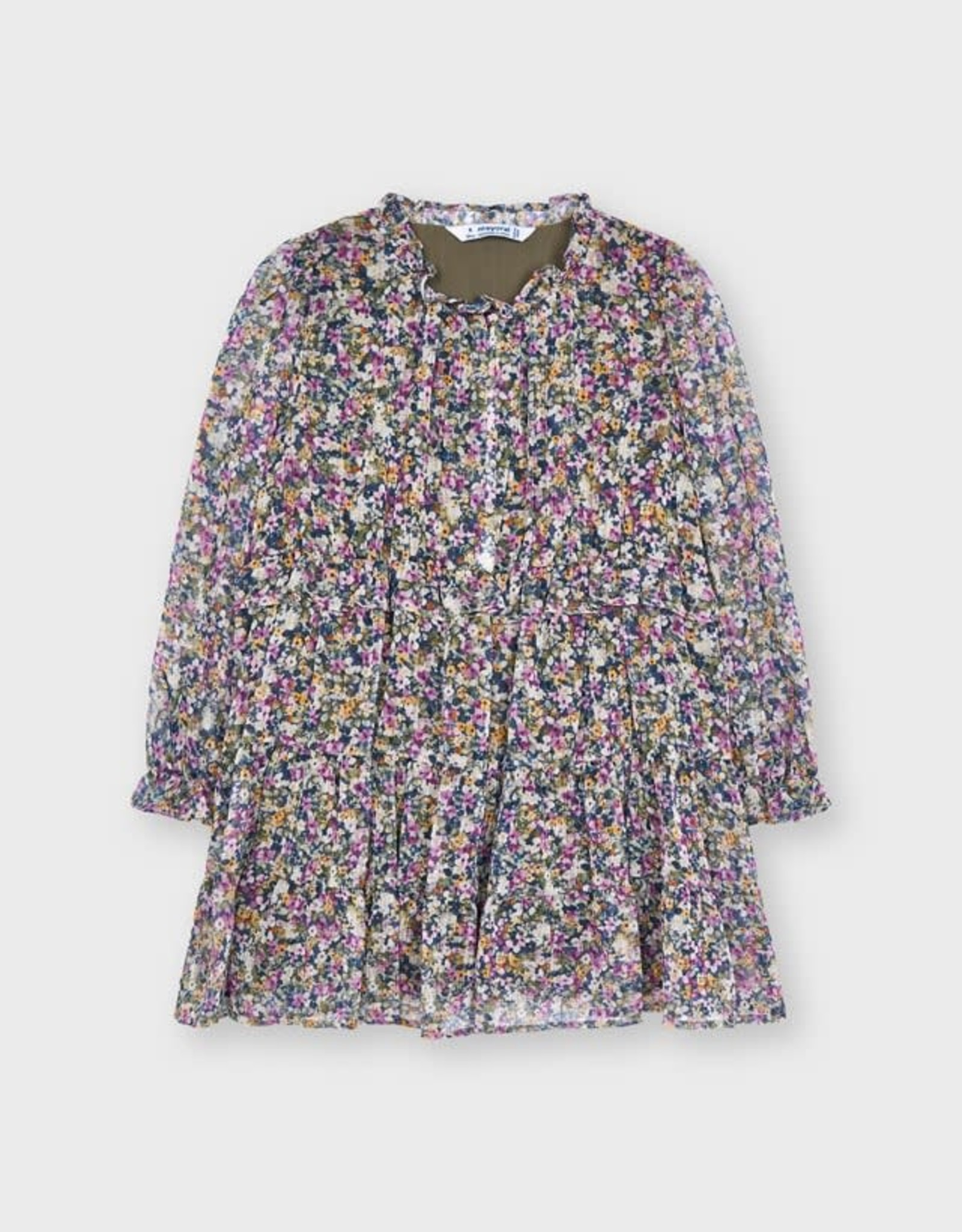 Lilac Printed Dress