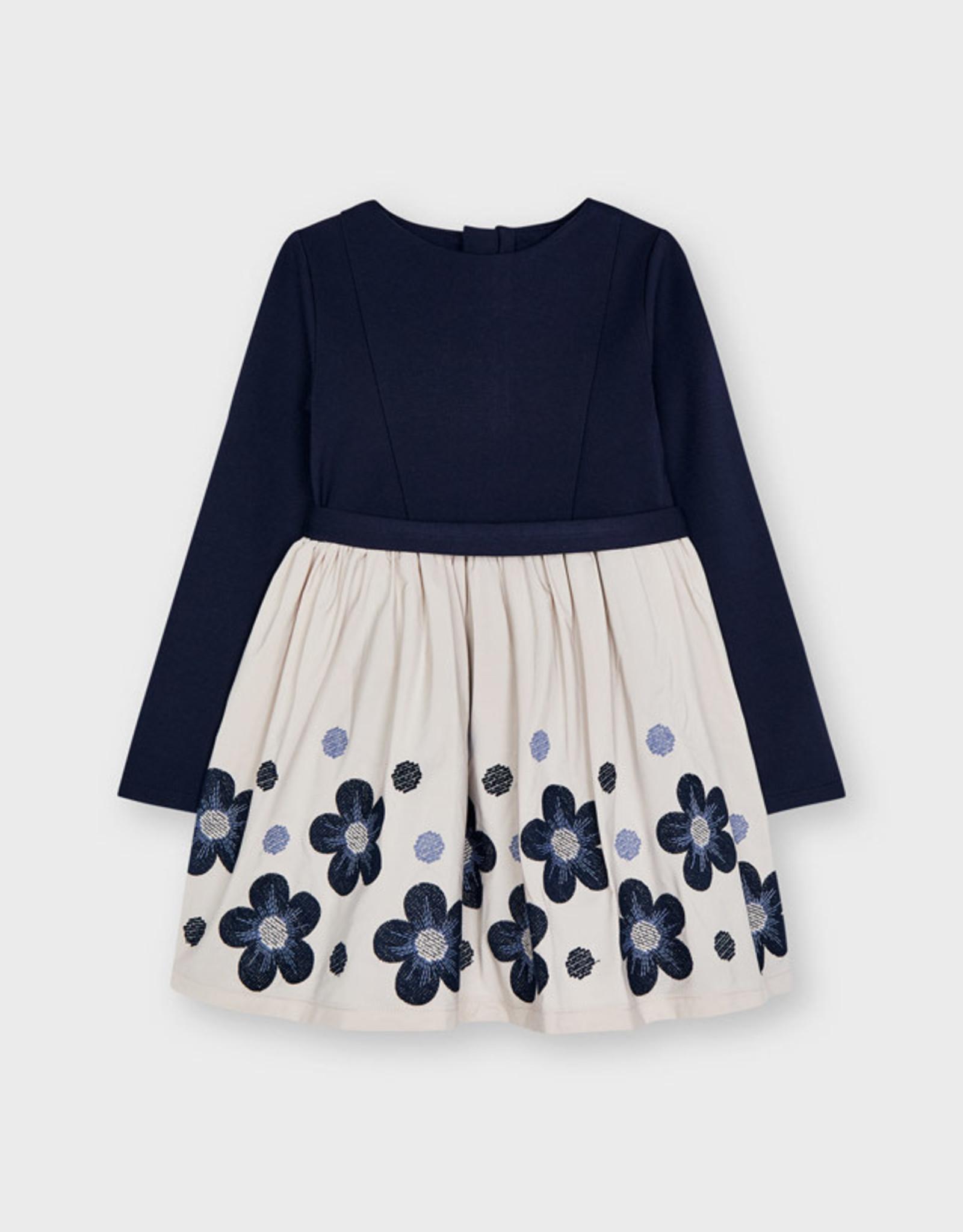 Navy Flowers Dress