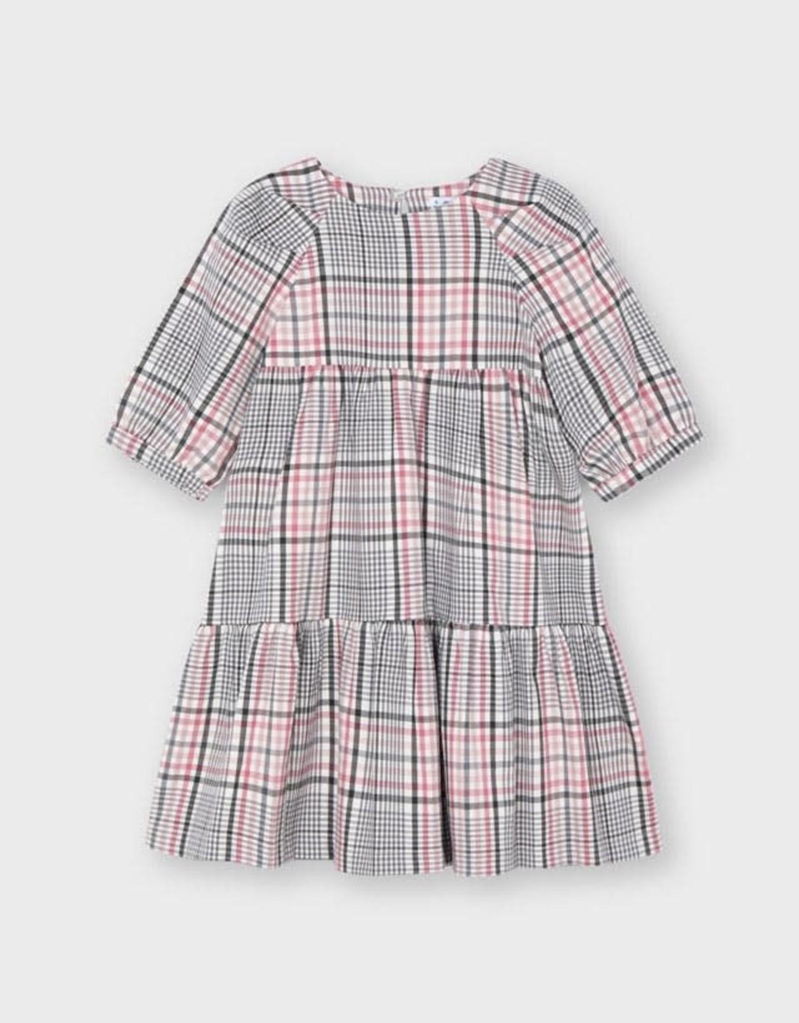 Plaid Dress Blush