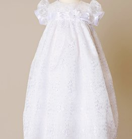 Embroidered Glittered/Organza Gown