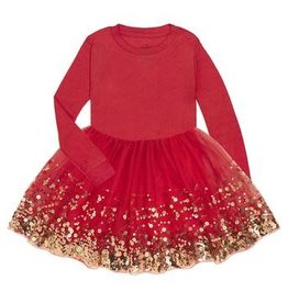Red Sequin Dress Girl