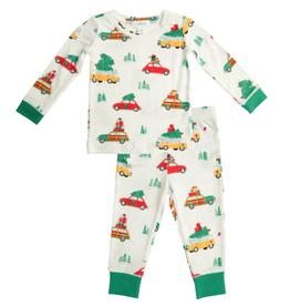 Trees on Cars Pajama Set