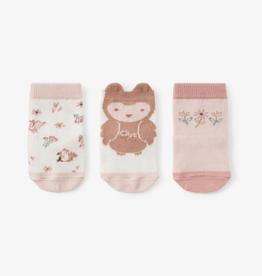 Owl Sock 3pack 0-12 months