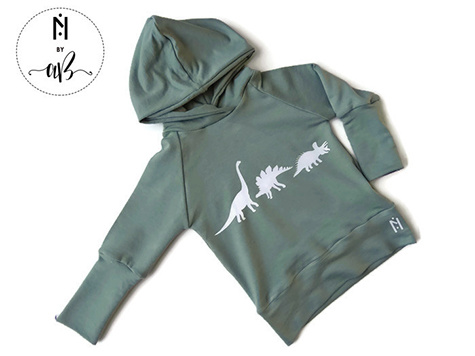 Norskin Nörskin Collection - Hoodie Vert Dino 12-36 mois
