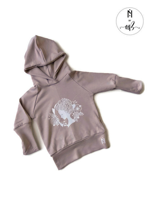 Collection Nörskin Nörskin Collection - Hoodie Rose et visage blanc 3-12 mois